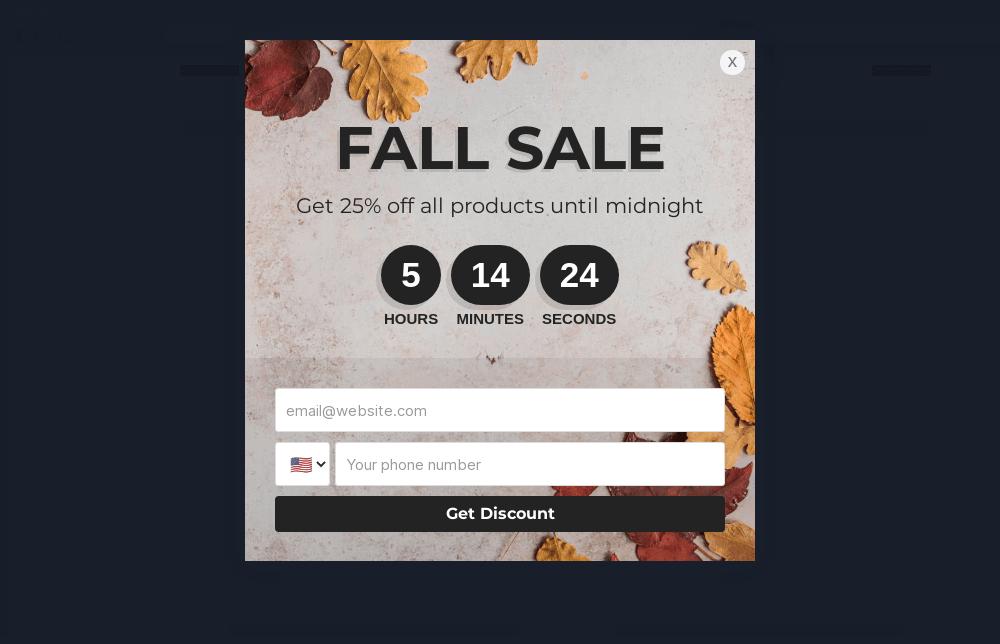 Fall Season Sale Popup Template
