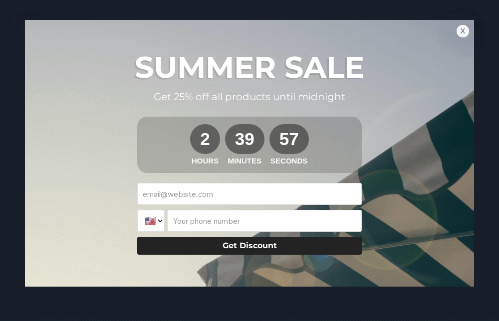 Summer Sale Popup Template