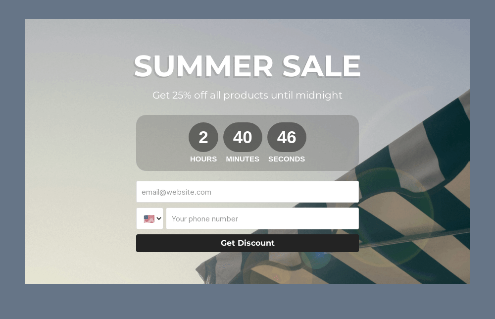 Summer Sale Embedded Form Template