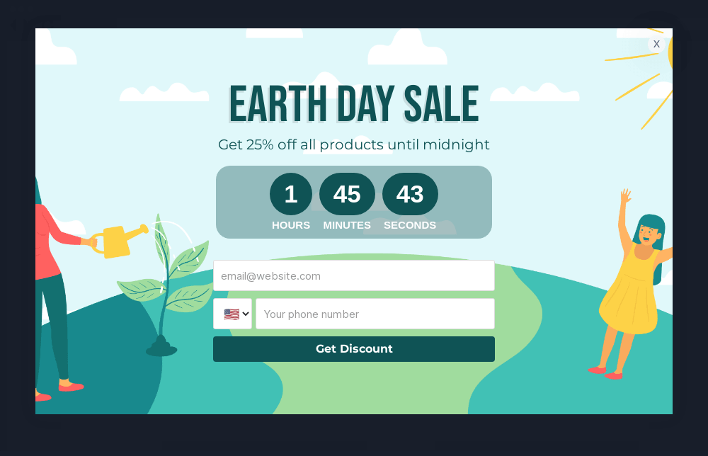 Earth Day Sale Popup Template