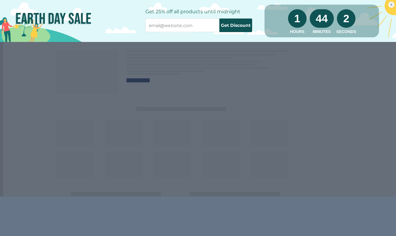 Earth Day Sale Sticky Bar Template