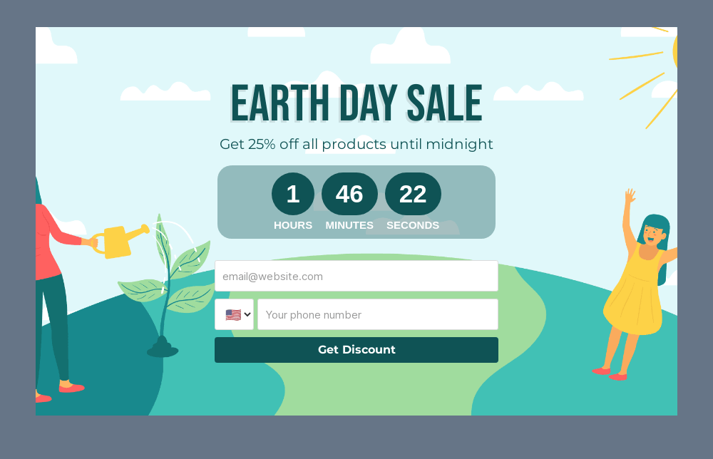 Earth Day Sale Embedded Form Template