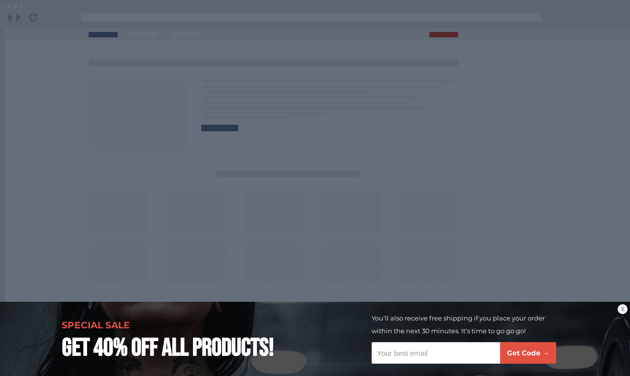 Fitness Discount Sticky Bar Template