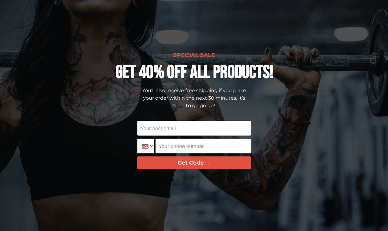 Fitness Discount Landing Page Template
