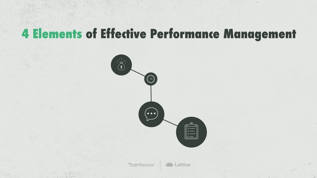 Four Elements of Effective Performance Management