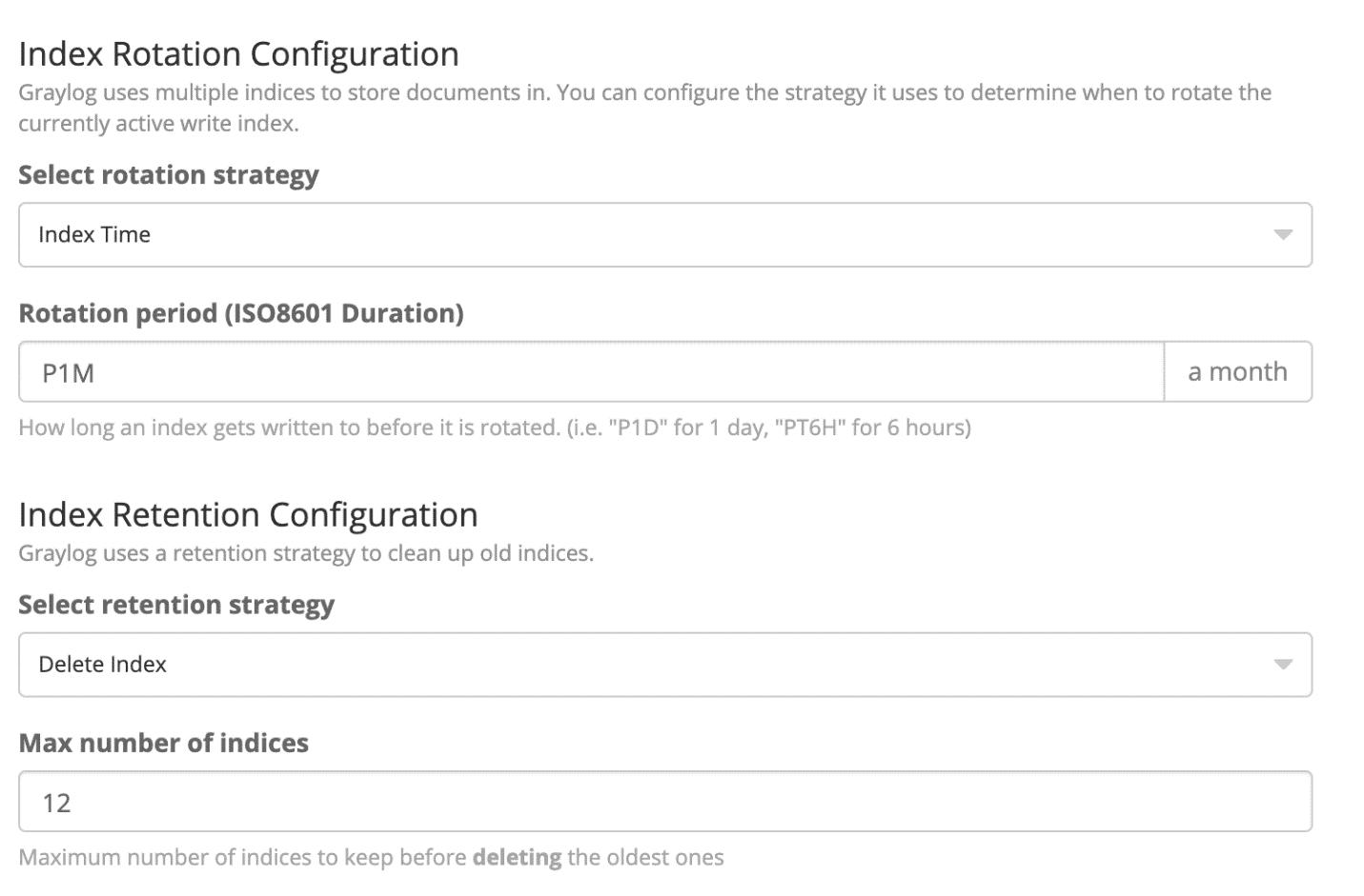 Index Rotation Configuration