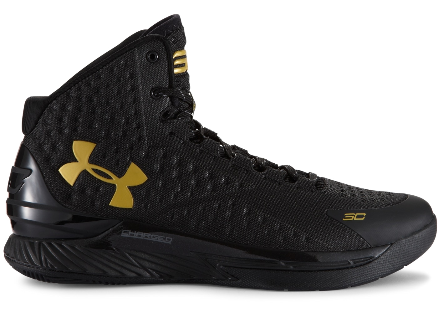 UA Curry 1 Black and Gold Banner
