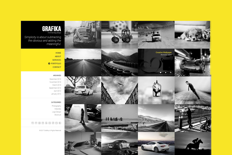 Mẫu Website được thiết kế dựa trên nhu cầu tham khảo hình ảnh thường xuyên