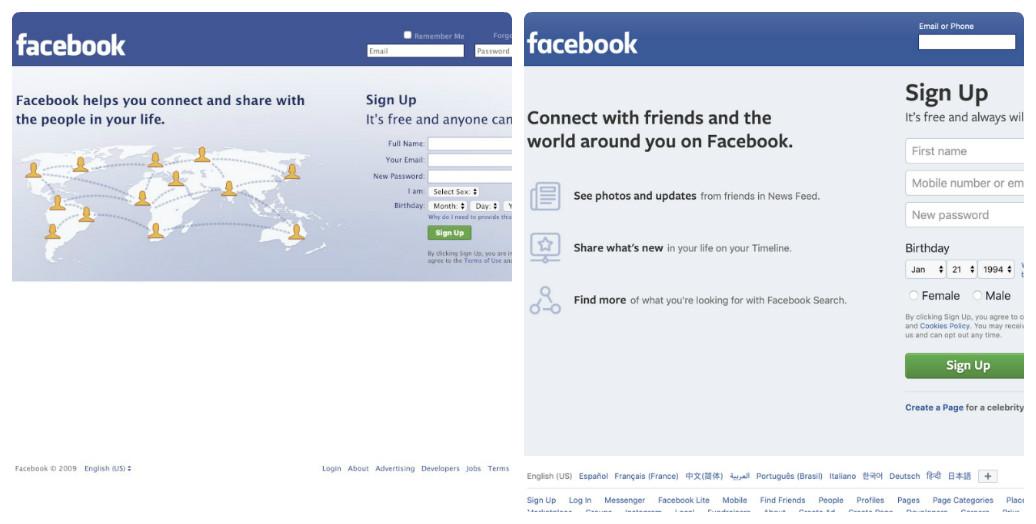 Facebook thay đổi thiết kế giao diện web trong 10 năm như thế nào