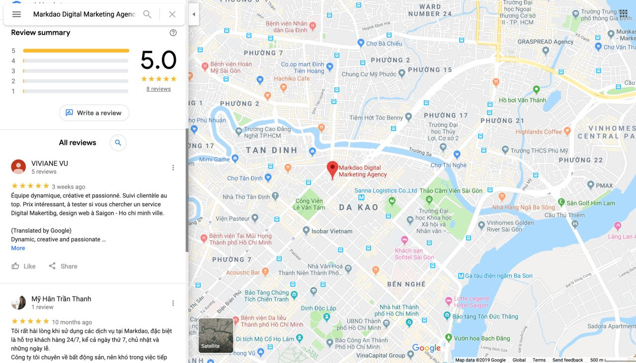 seo google map review