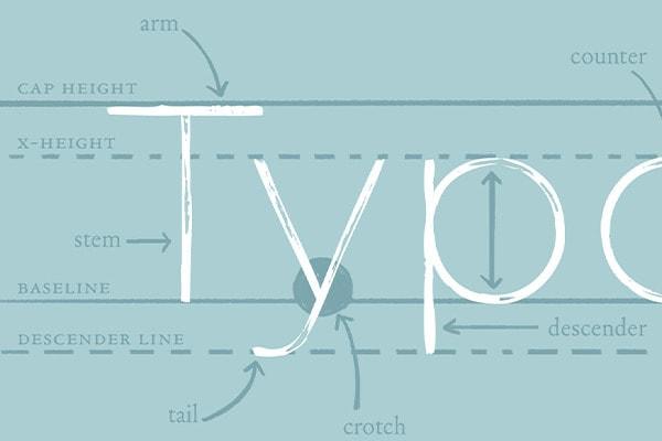 kết hợp font thiết kế website