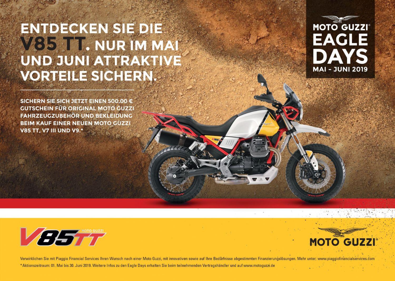Moto Guzzi Eagle Days vom 01. Mai bis 30.Juni 2019