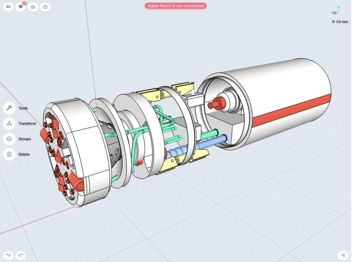 boring machine 3d model