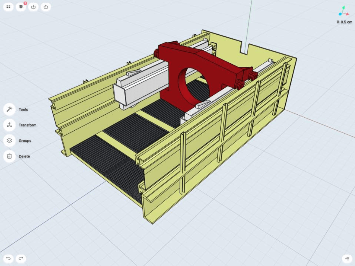 boring machine 3d modeling