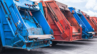 Waste garbage trucks image