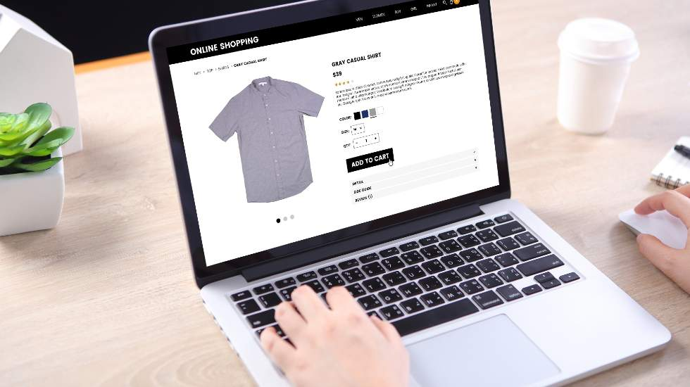 ecommerce web page