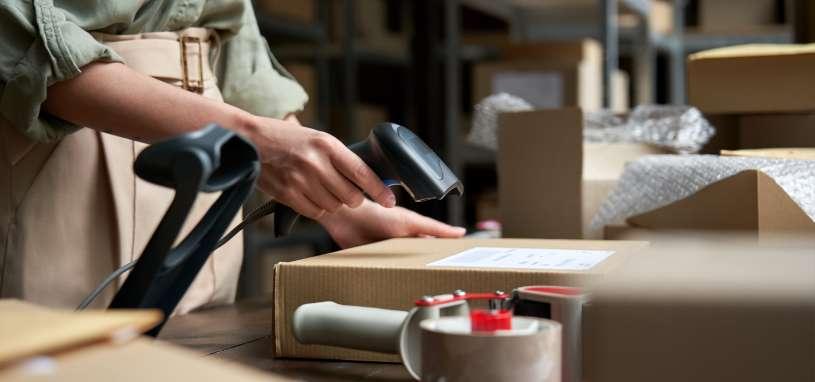 seller preparing online retail shop order