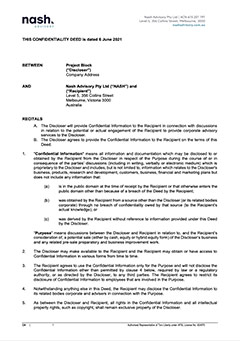 Confidentiality Agreement (CA)