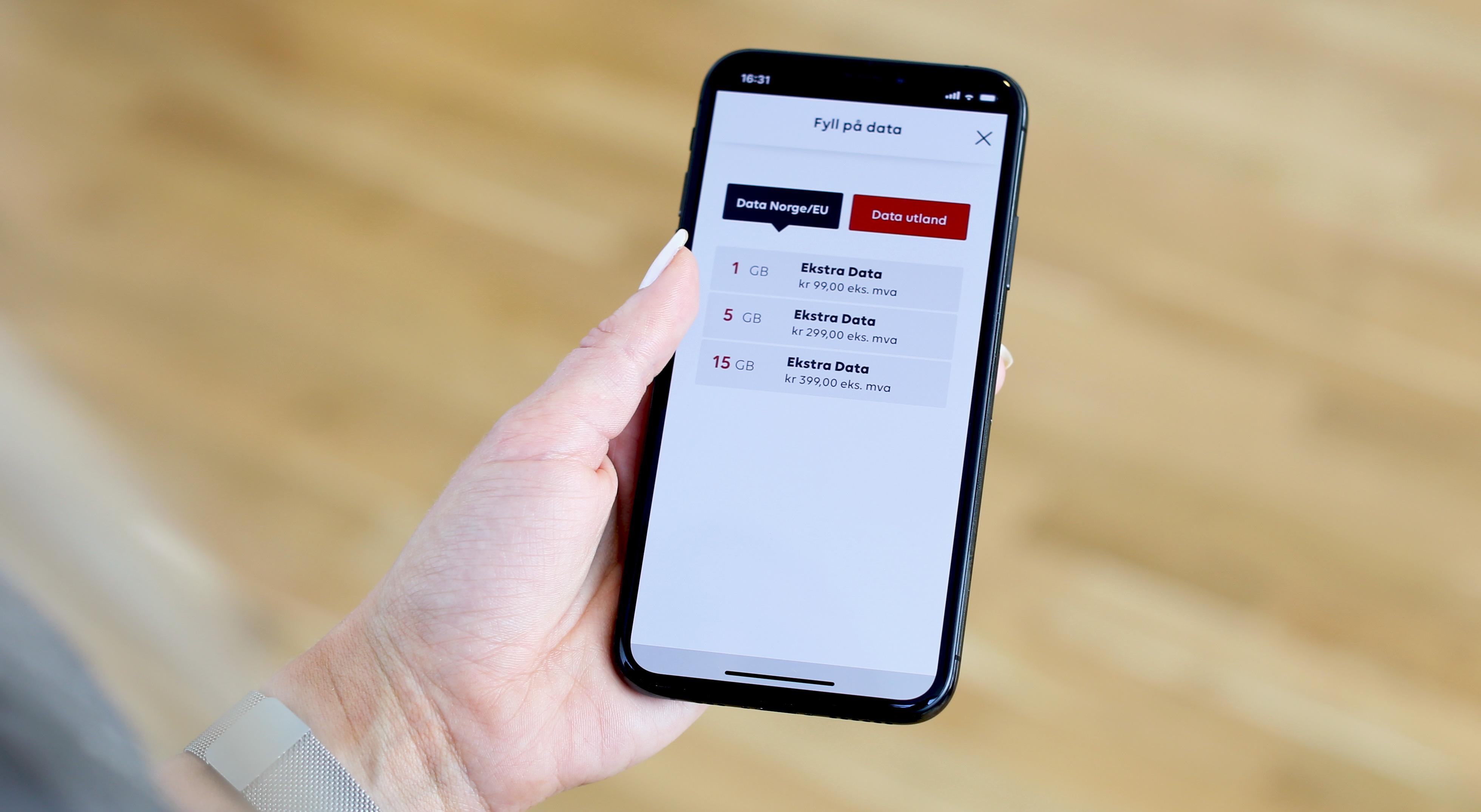 add82161 Dersom du har gått tom og trenger ekstra data i Norge eller på reise i EU  kan dette enkelt bestilles via SMS eller i ditt Phonero.