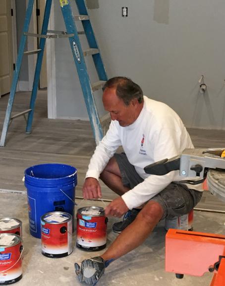 preparing paint for interior painting