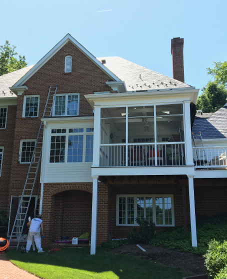 Ray Hite crew on home exterior painting
