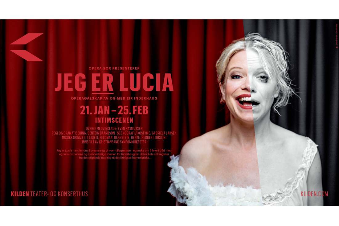 Plakat Jeg er Lucia Kilden av Kommunikasjonshuset Fundament