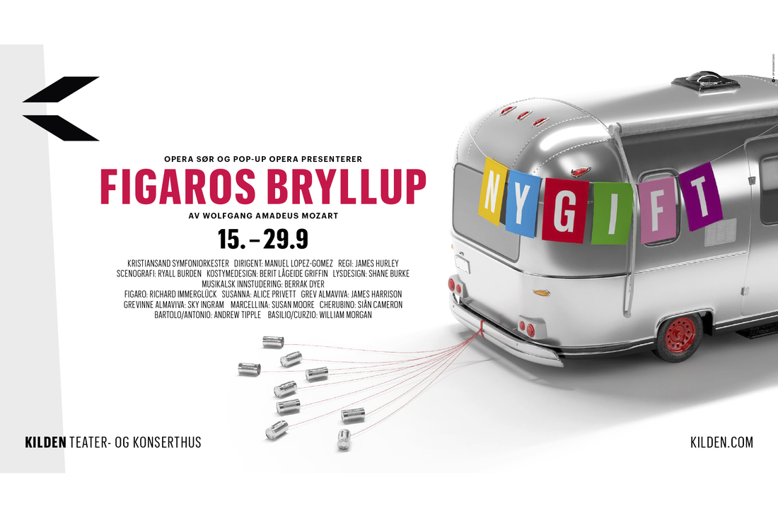 Plakat Figaros Bryllup Kilden av Kommunikasjonshuset Fundament