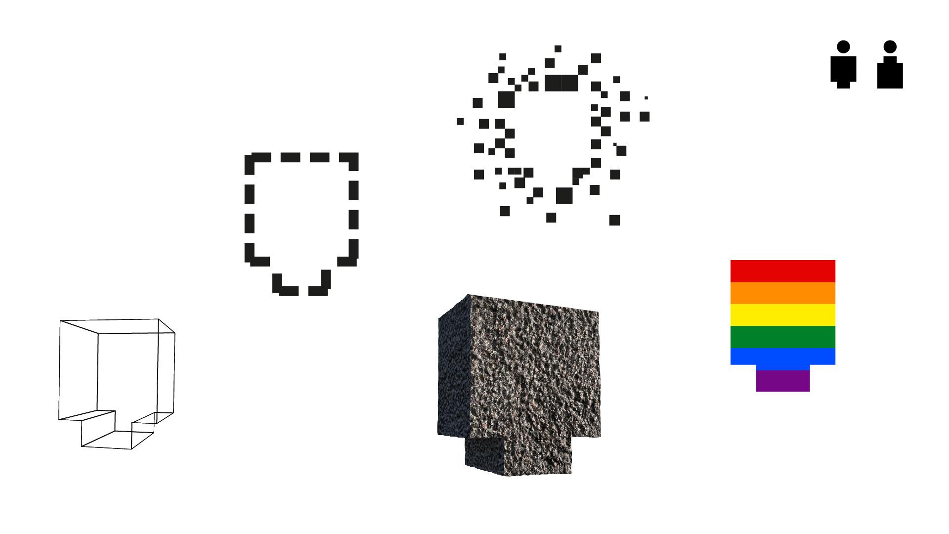 Symboler til Teaterets visuelle identitet