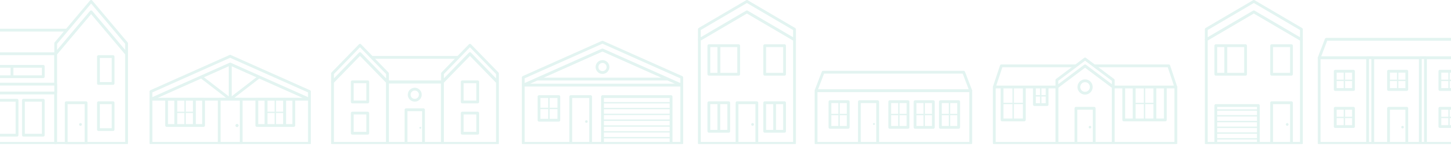 illustration of the front exteriors of different homes