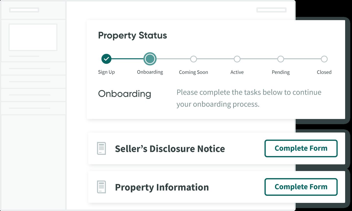 Jovio Seller Dashboard showing menu bar and real estate agent contact information