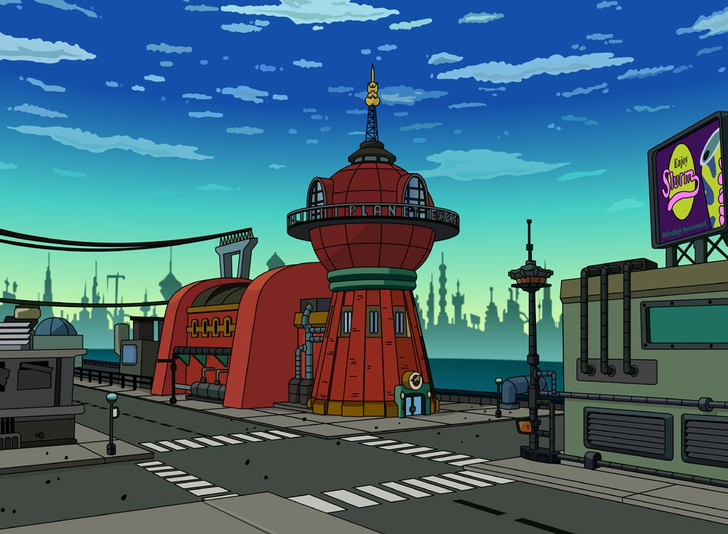 Futurama headquarters fire station