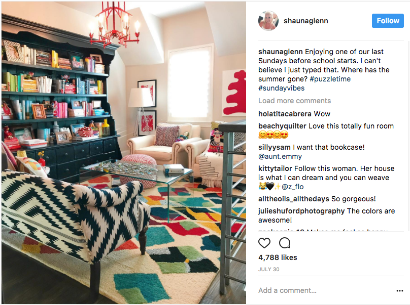 photo of interior designer Shauna Glenn's Instagram account