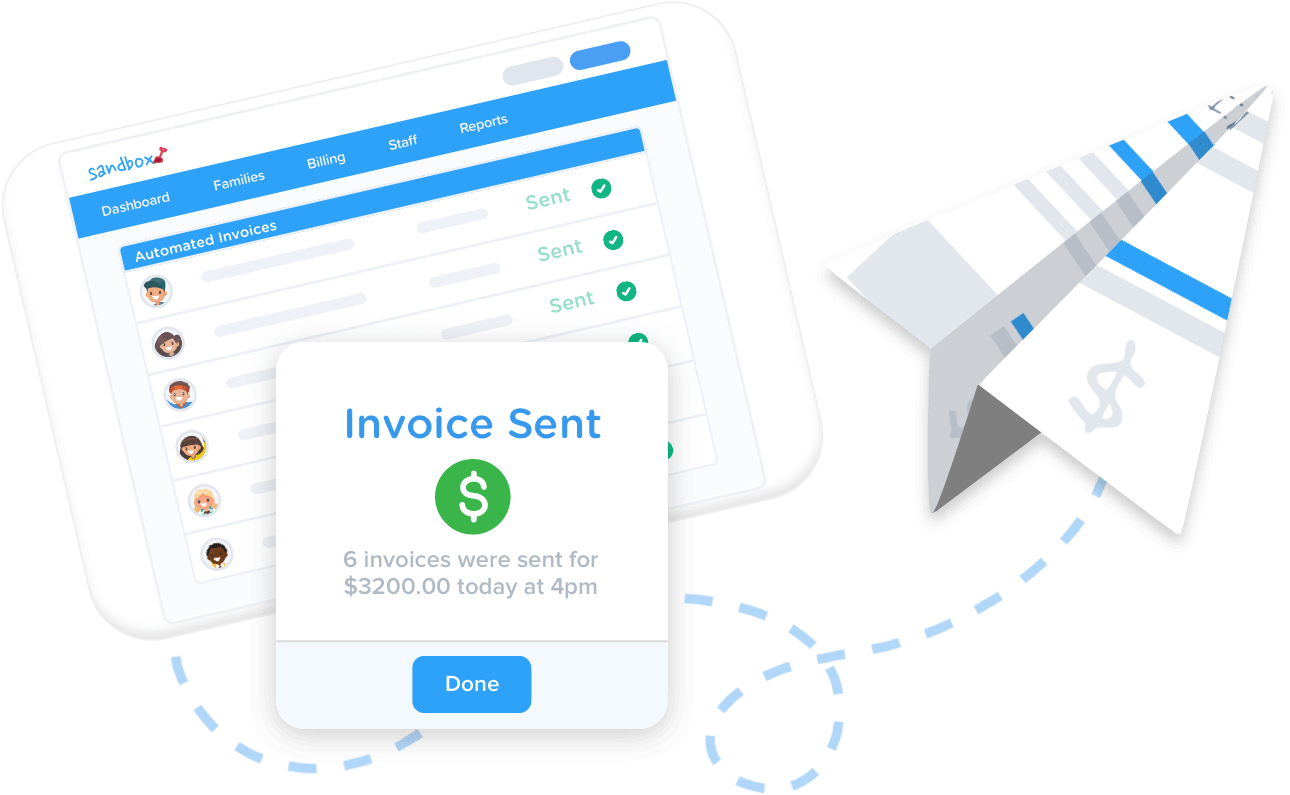 Automate invoicing for all children at your center