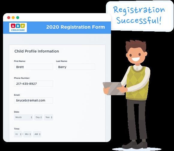 Online childcare registration