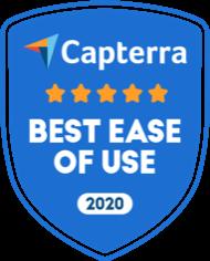 Capterra Best Ease of Use Child Care Management Software Badge