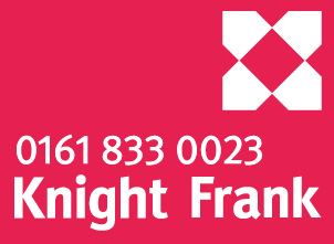 The logo for Knight Frank. Containing the phone number 01618330023