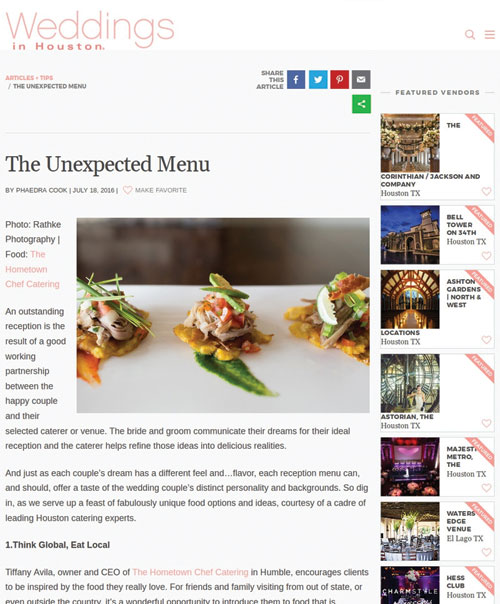 The Unexpected Menu