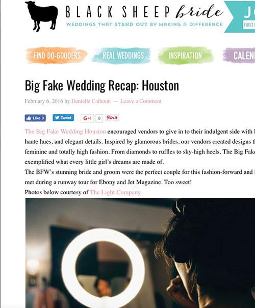 Big Fake Wedding Recap: Houston