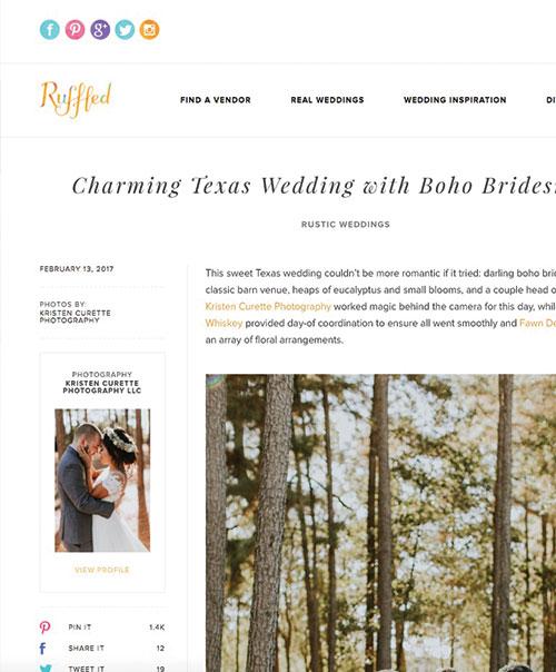 Charming Texas Wedding with Boho Bridesmaids