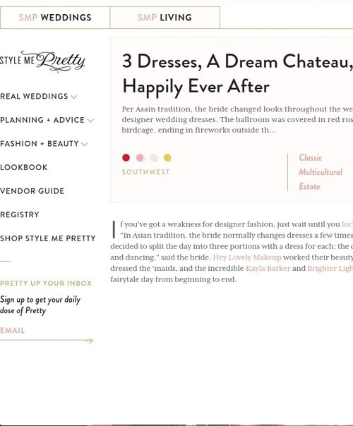 3 Dresses, A Dream Chateau, & Happily Ever After