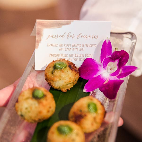 Passed hors d'oeuvres are a hit at any event