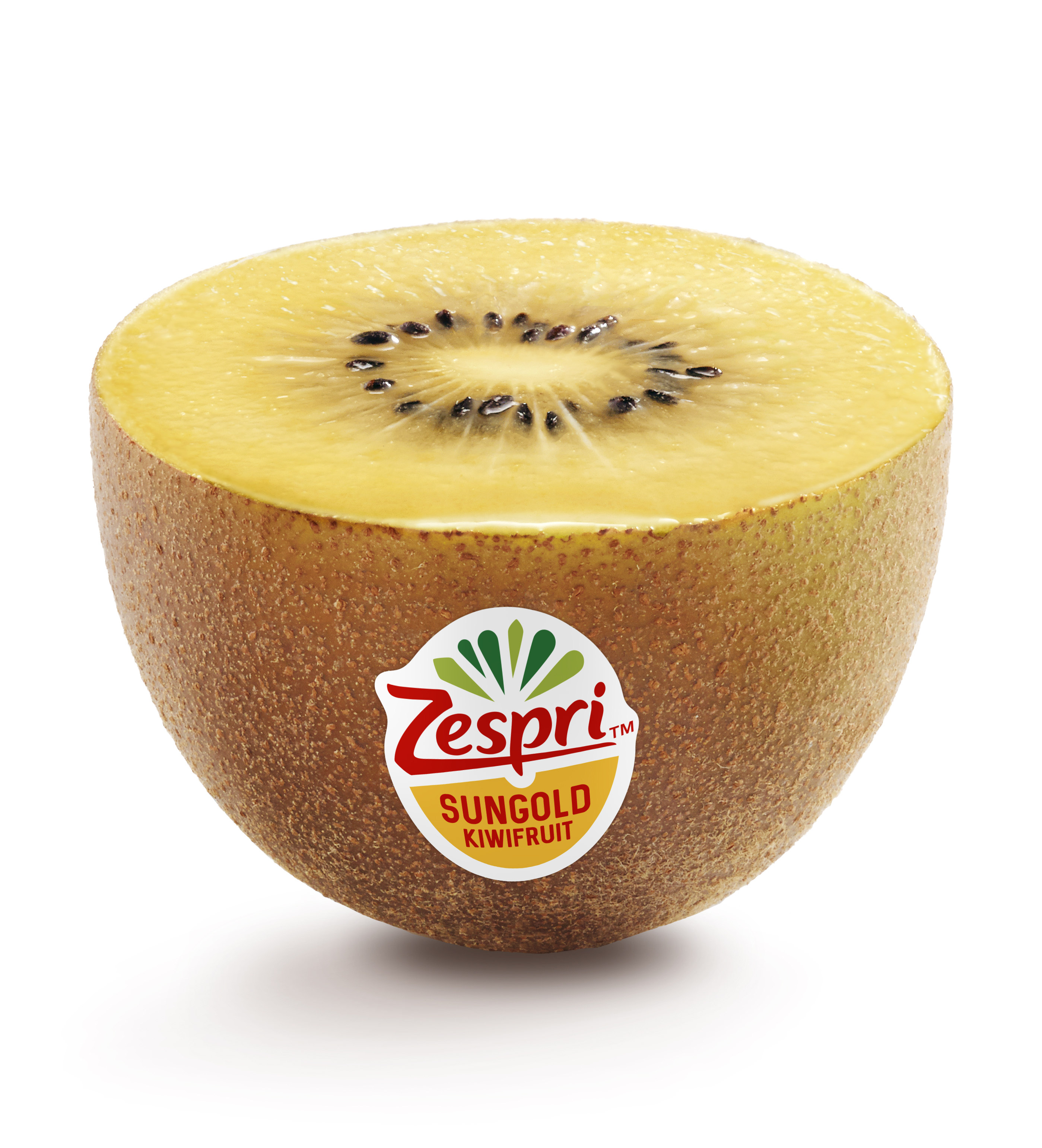 Zespri Sungold grown with Southern Cross Horticulture, Golden kiwifruit sliced in half