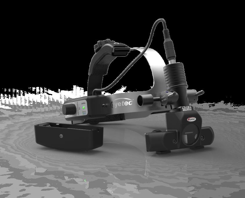 Oftalmoscópio indireto para mapeamento de retina. (Fonte: Eyetec)