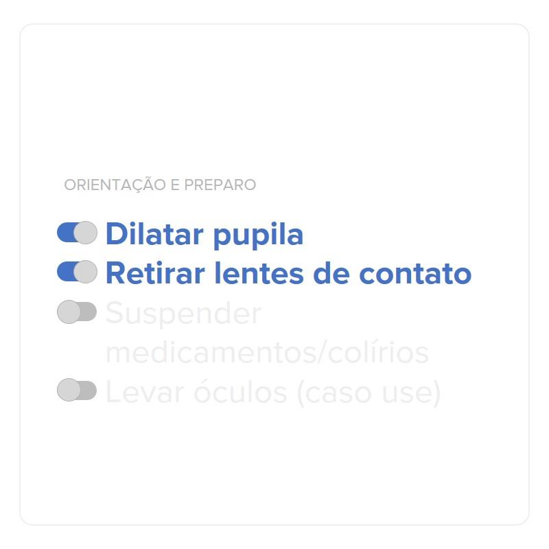 Figura 3. Orientação e preparo para o exame de mapeamento de retina. (Fonte: Rede Olhos)