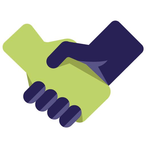 shaking hand icon