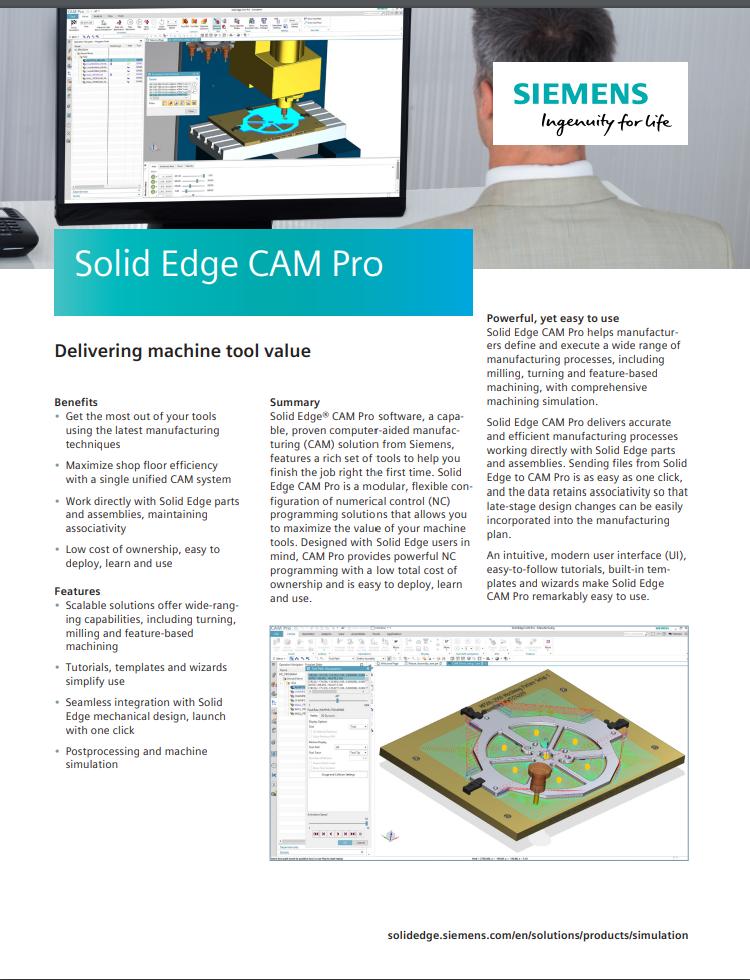 CAM pro brochure image