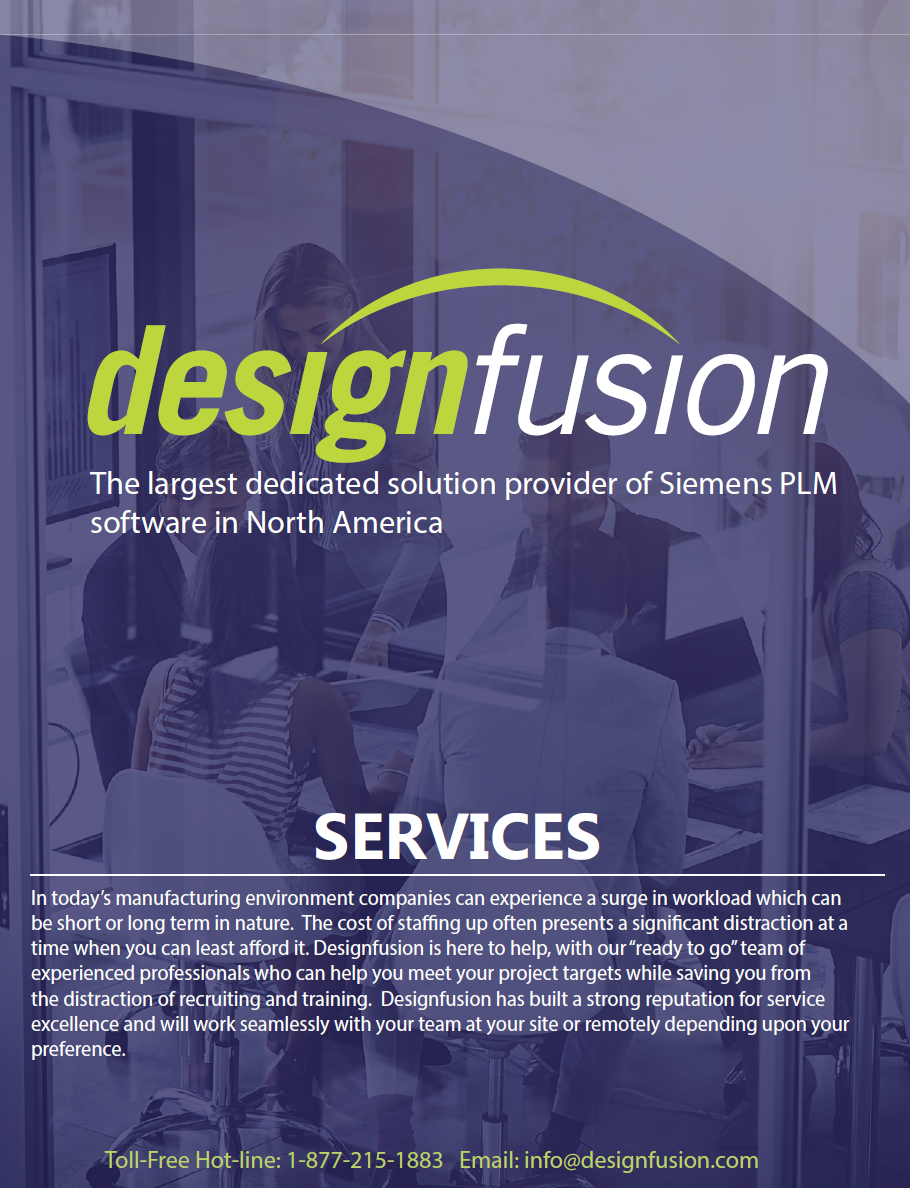 Designfusion services brochure image