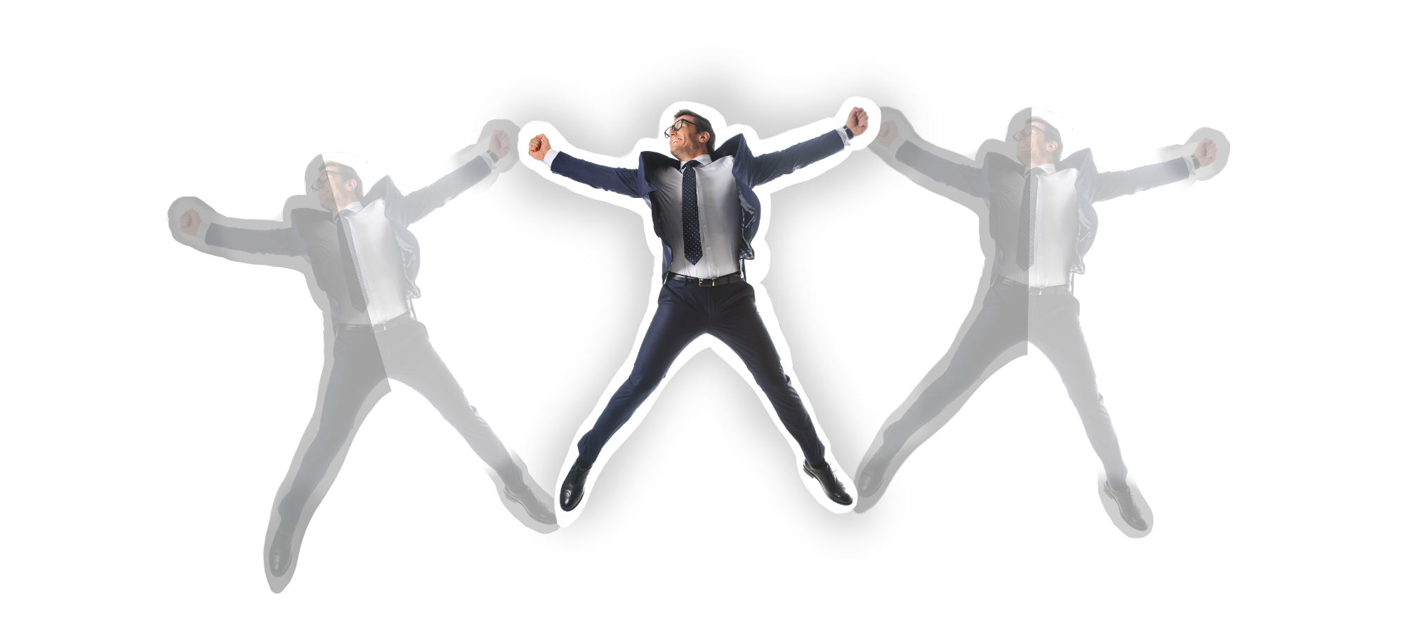Image of a man stretched out, to represent being too busy