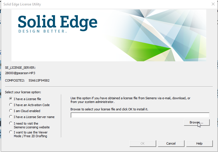 Solid Edge sign up image