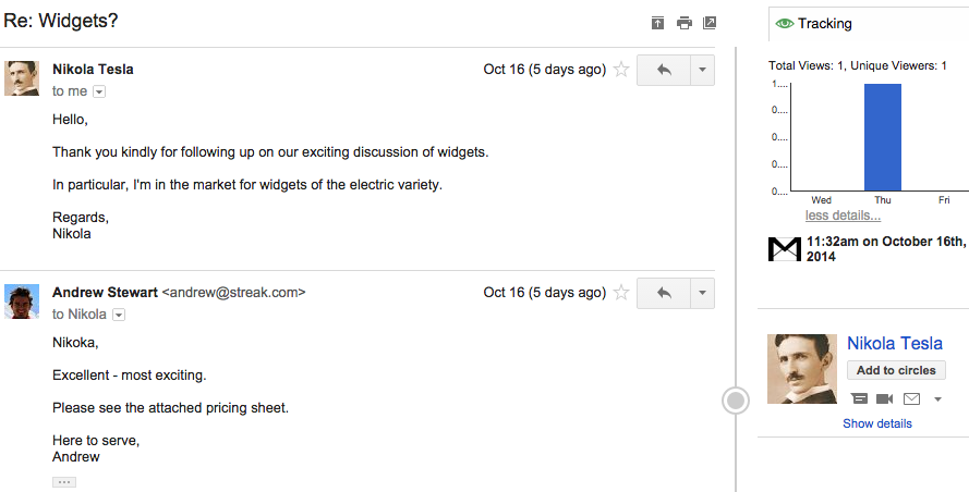 Email Tracking | Streak - CRM for Gmail
